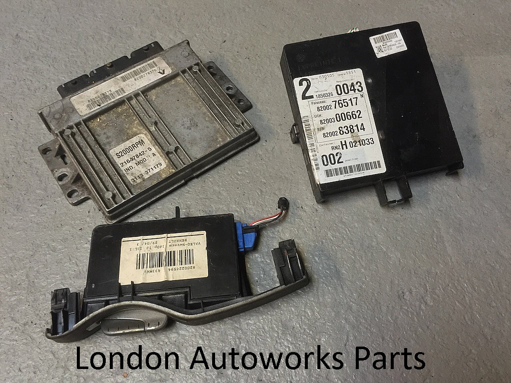 renault laguna mk2 mk ii 1 8 16v ecu set 8200278376 ebay. Black Bedroom Furniture Sets. Home Design Ideas